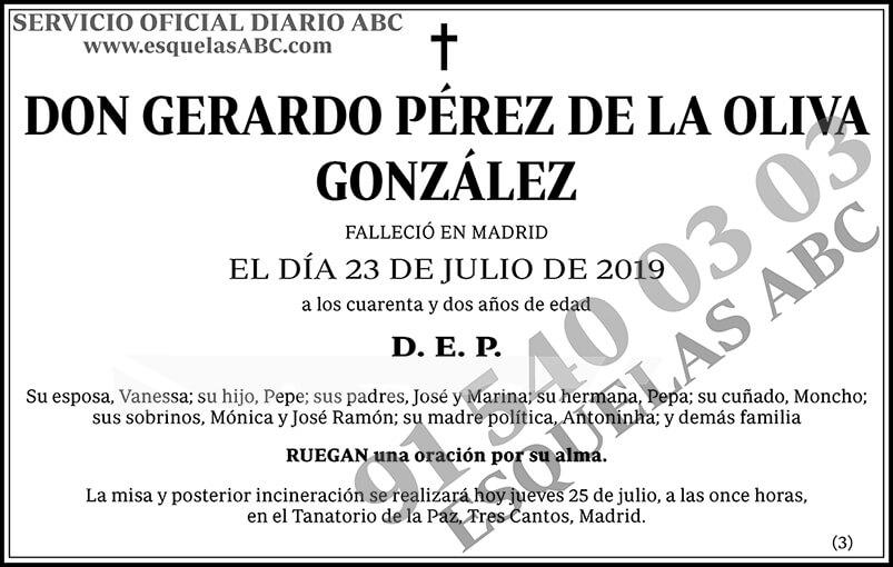 Gerardo Pérez de la Oliva González