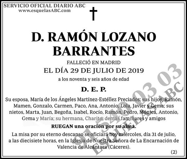 Ramón Lozano Barrantes