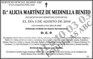 Alicia Martínez de Medinilla Benito