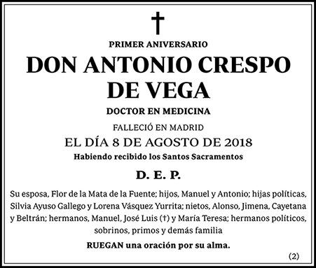 Antonio Crespo de Vega