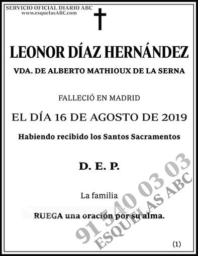 Leonor Díaz Hernández