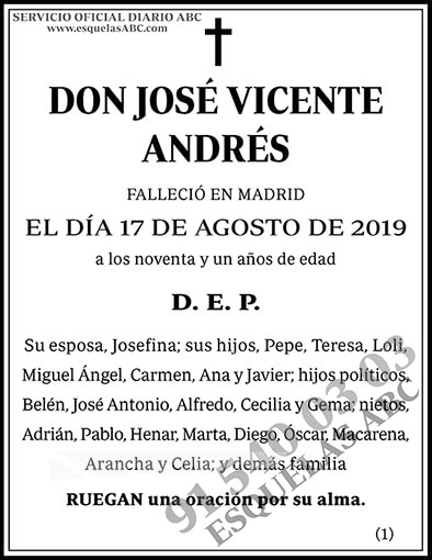 José Vicente Andrés