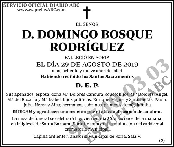 Domingo Bosque Rodríguez