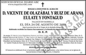 Vicente de Olazábal y Ruiz de Arana Eulate y Fontagud