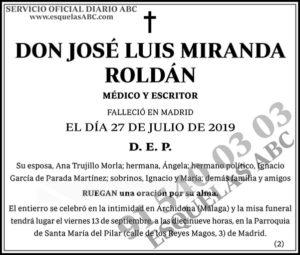 José Luis Miranda Roldán