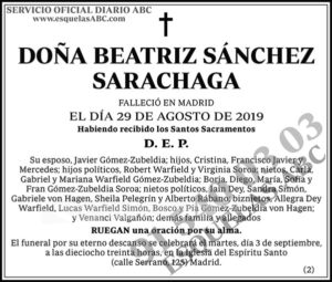 Beatriz Sánchez Sarachaga