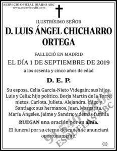 Luis Ángel Chicharro Ortega
