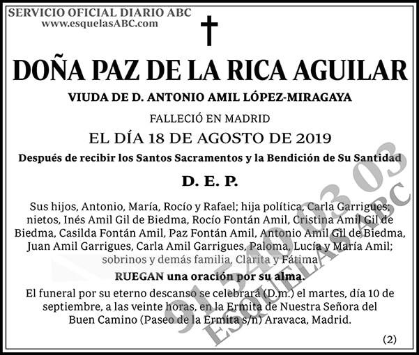 Paz de la Rica Aguilar