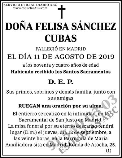 Felisa Sánchez Cubas