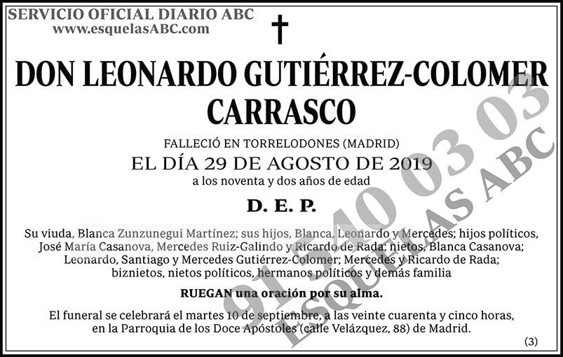 Leonardo Gutiérrez-Colomer Carrasco