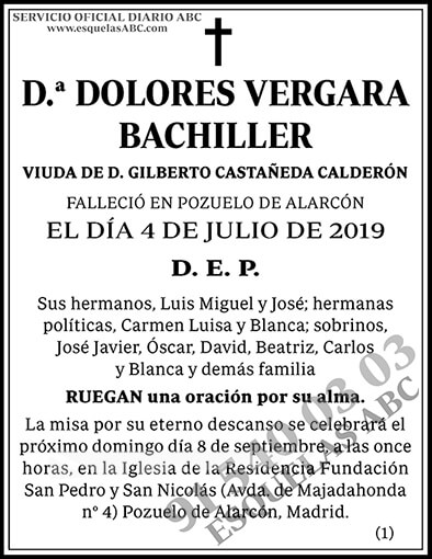 Dolores Vergara Bachiller