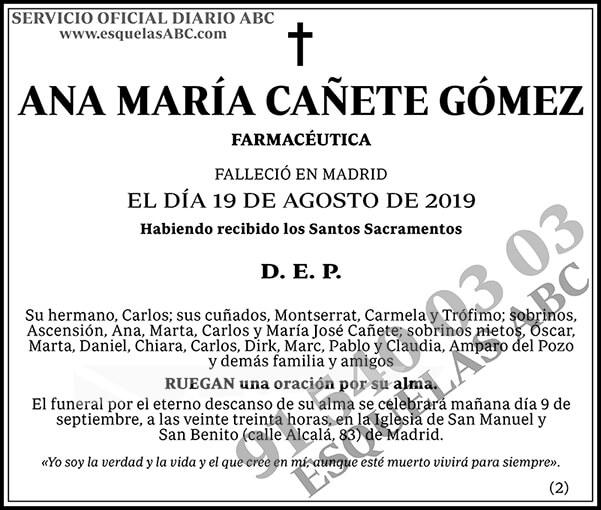 Ana María Cañete Gómez