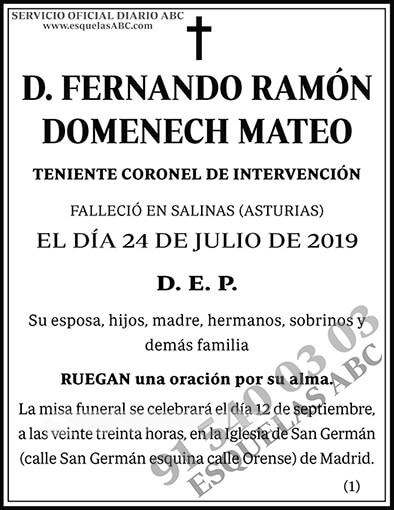 Fernando Ramón Domenech Mateo