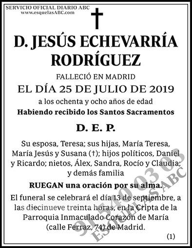 Jesús Echevarría Rodríguez