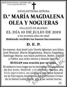 María Magdalena Olea y Nogueras