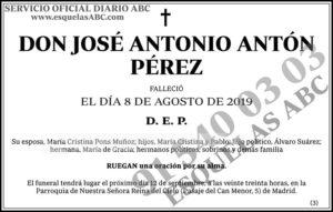 José Antonio Antón Pérez