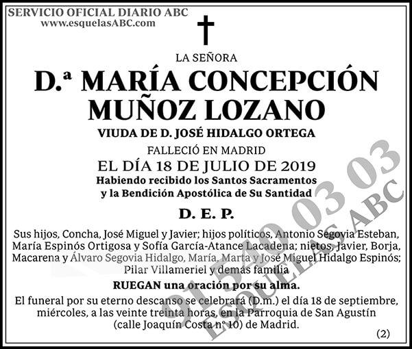 María Concepción Muñoz Lozano