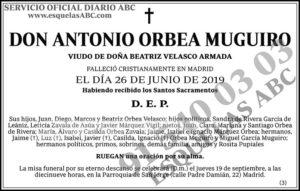 Antonio Orbea Muguiro