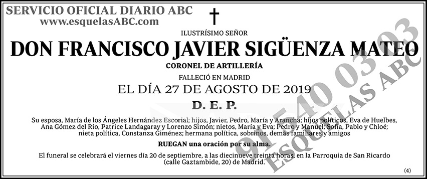 Francisco Javier Sigüenza Mateo