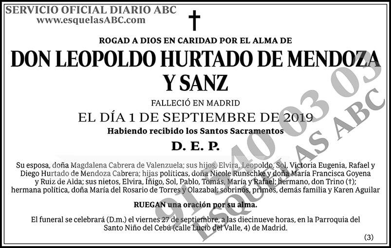 Leopoldo Hurtado de Mendoza y Sanz