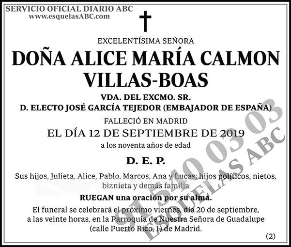 Alice María Calmon Villas-Boas