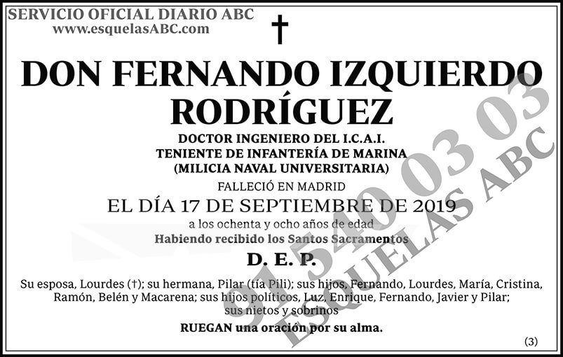 Fernando Izquierdo Rodríguez
