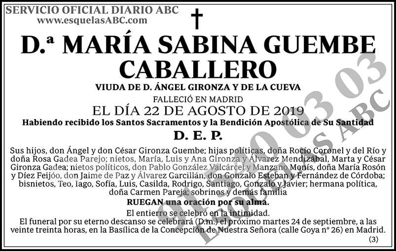 María Sabina Guembe Caballero