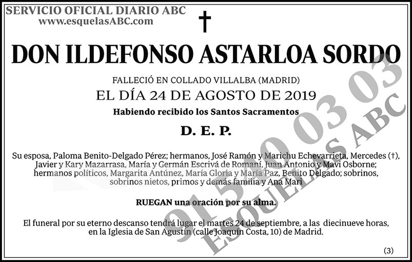 Ildefonso Astarloa Sordo