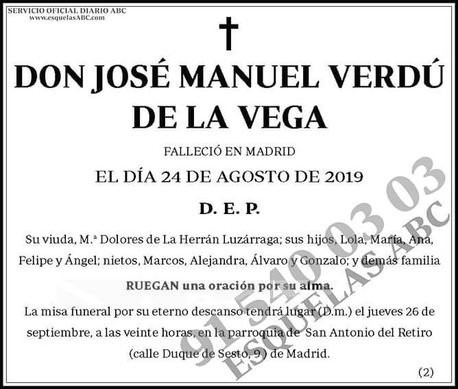 José Manuel Verdú de la Vega
