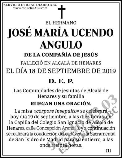 José María Ucendo Angulo