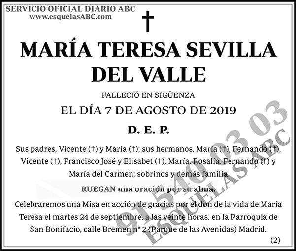 María Teresa Sevilla del Valle