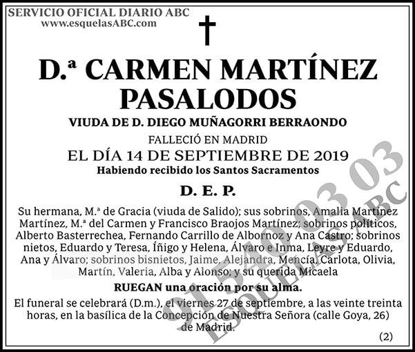 Carmen Martínez Pasalodos
