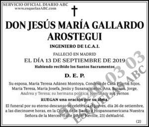 Jesús María Gallardo Arostegui