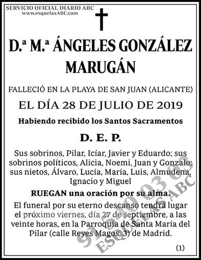 M.ª Ángeles González Marugán