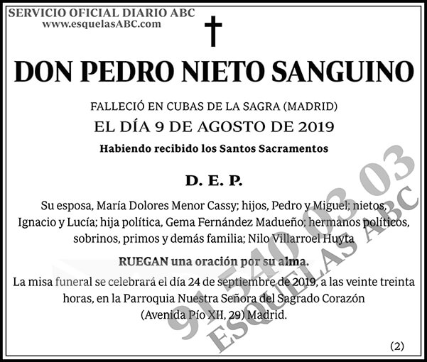 Pedro Nieto Sanguino