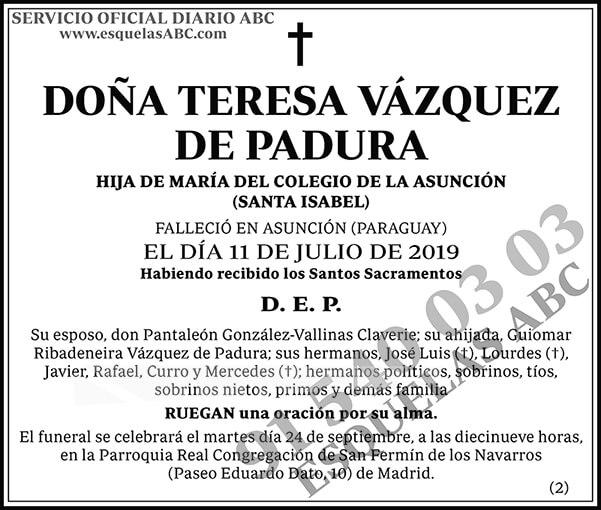 Teresa Vázquez de Padura