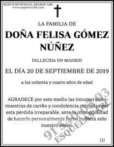 Felisa Gómez Núñez