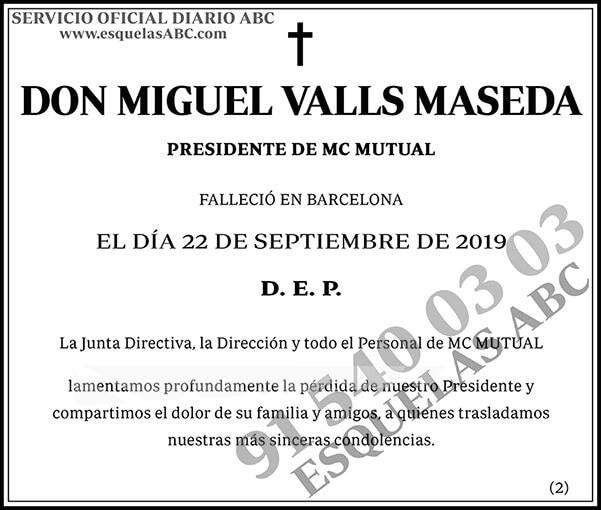 Miguel Valls Maseda