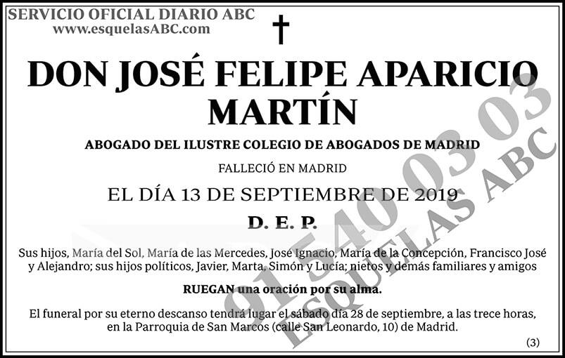 José Felipe Aparicio Martín