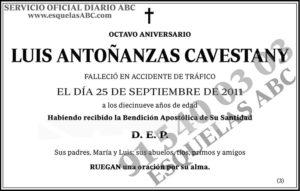 Luis Antoñanzas Cavestany
