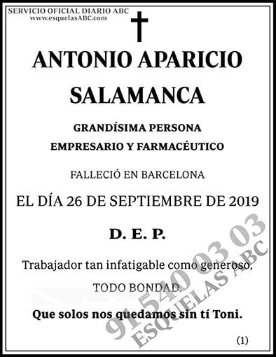 Antonio Aparicio Salamanca