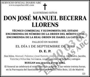 José Manuel Becerra Llorens