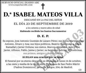 Isabel Mateos Villa
