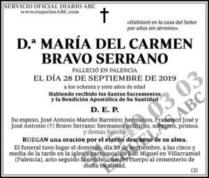 María del Carmen Bravo Serrano