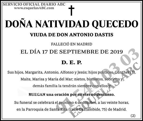 Natividad Quecedo