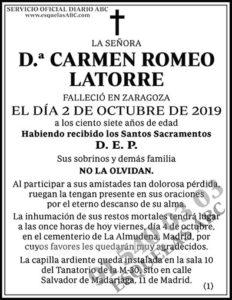 Carmen Romeo Latorre