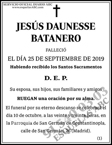Jesús Daunesse Batanero