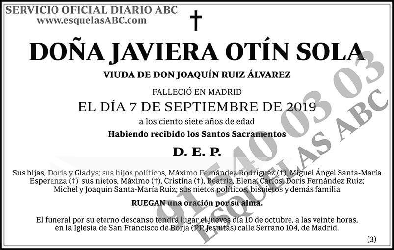 Javiera Otín Sola