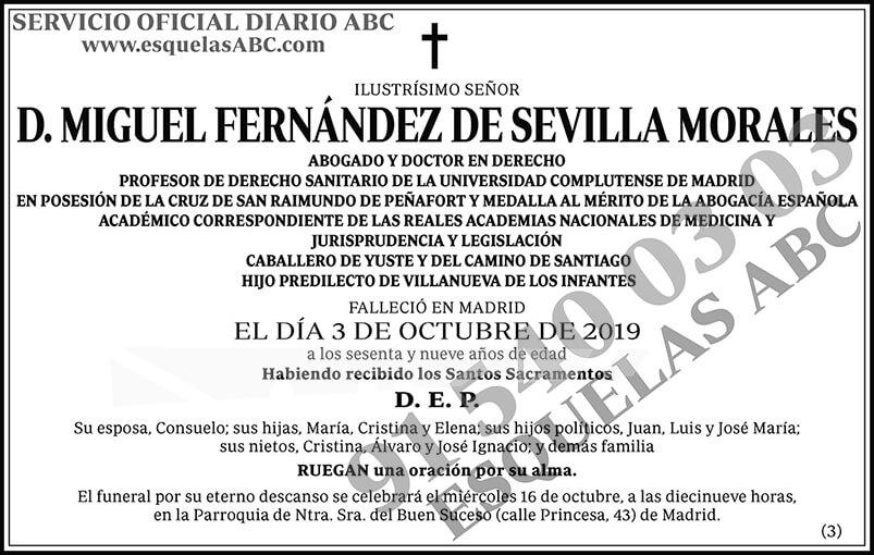Miguel Fernández de Sevilla Morales