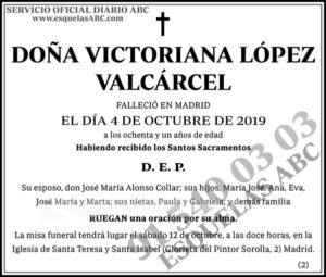 Victoriana López Valcárcel